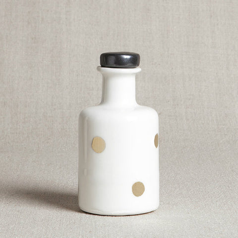 Apothecary Bottle - Gold Polka Dots