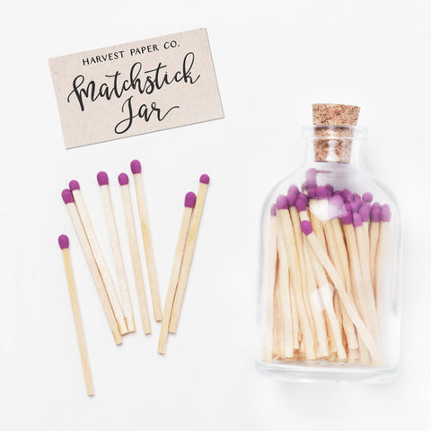 Matchstick Jar - Royal