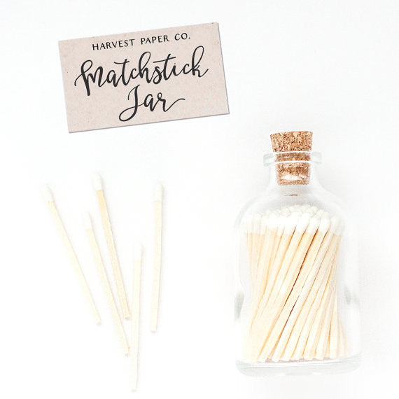 Matchstick Jar - Classic White