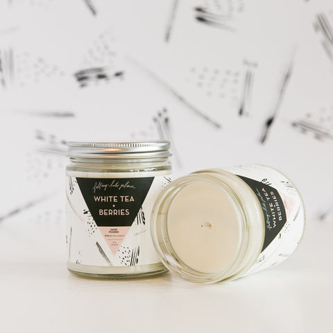 Soy Wax Candle - White Tea + Berries