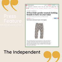 Dinki Human Press Feature Independent Gender Neutral kids clothing