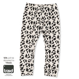 Dinki Human organic cotton printed leggings earth leopard TRAID kids baby and toddler style