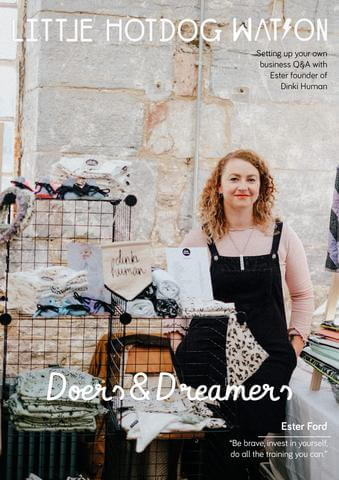 ester ford dinki human on little hotdog watson's dreamers and doers feature