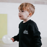 Logo Patch Organic Cotton Sweatshirt - Dinki Human Organic Kids Clothing