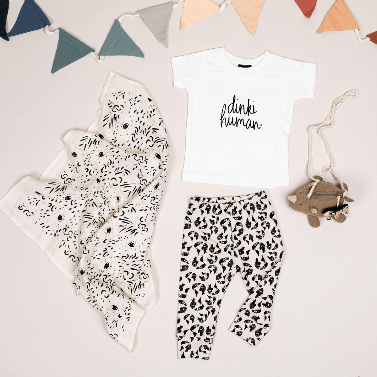 'Earth Leopard' Organic Cotton Leggings - Dinki Human Organic Kids Clothing
