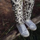 Dinki Human earth leopard printed organic cotton leggings