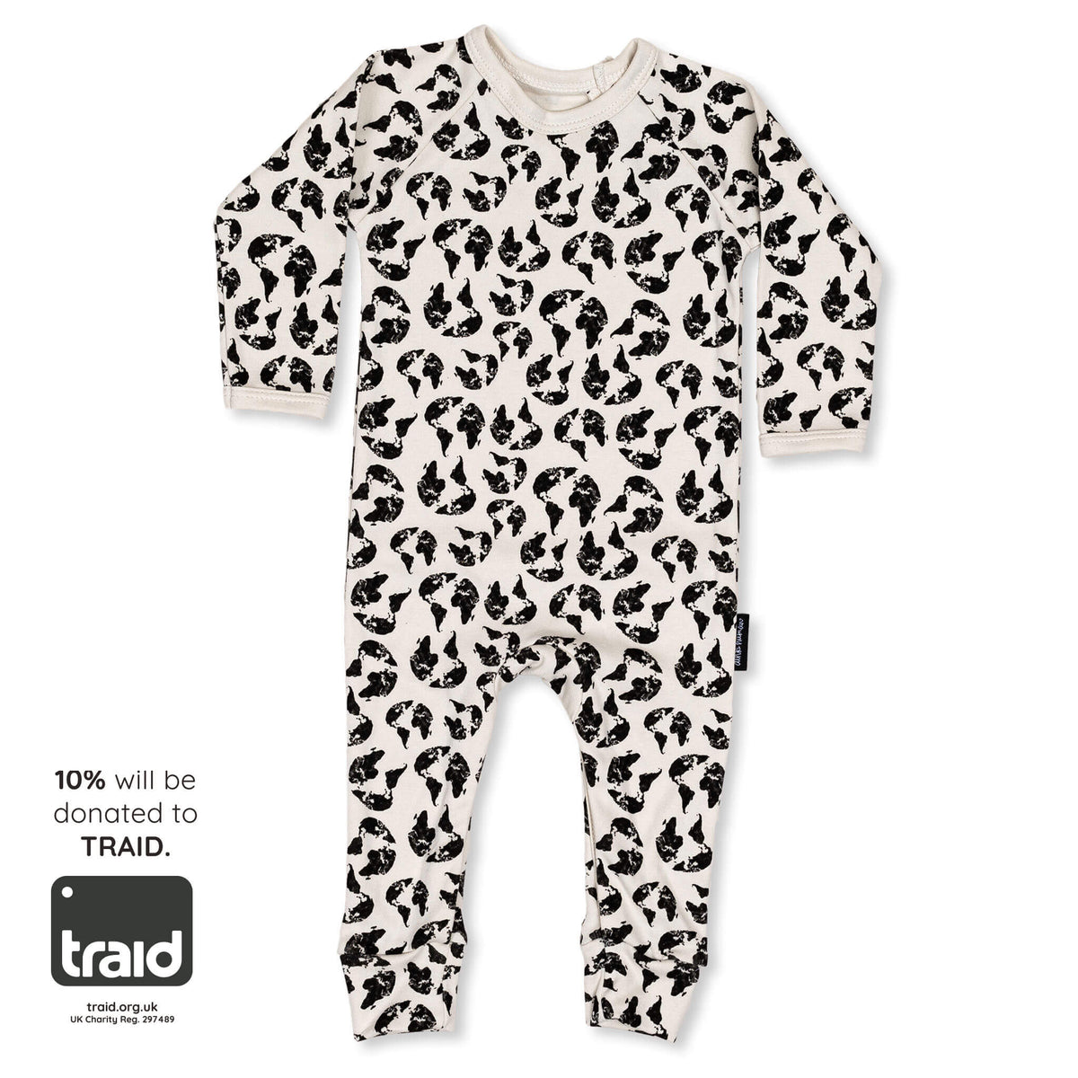 'Earth Leopard' Organic Cotton Onesie - Dinki Human Organic Kids Clothing