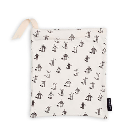 Dinki Human organic cotton drawstring gift bags community print reusable