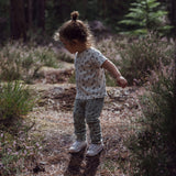 Dinki Human Organic Cotton leggings. Printed kids leggings. Ethically made Baby Leggings and cloth nappy clothing.