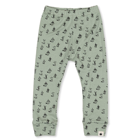 'Community' Organic Cotton Leggings - Dinki Human Organic Kids Clothing