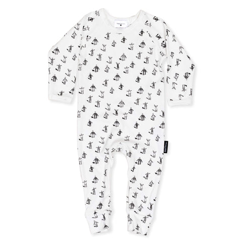 'Community' Organic Cotton Onesie - Dinki Human Organic Kids Clothing
