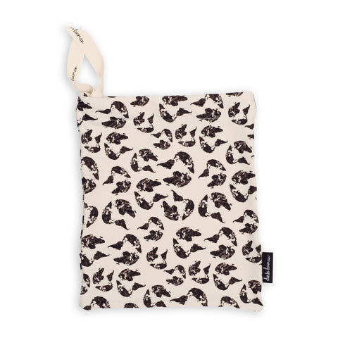 Dinki Human organic cotton drawstring gift bags earth leopard print reusable