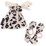 Dinki Human pair of hairbands bows with printed gift bag