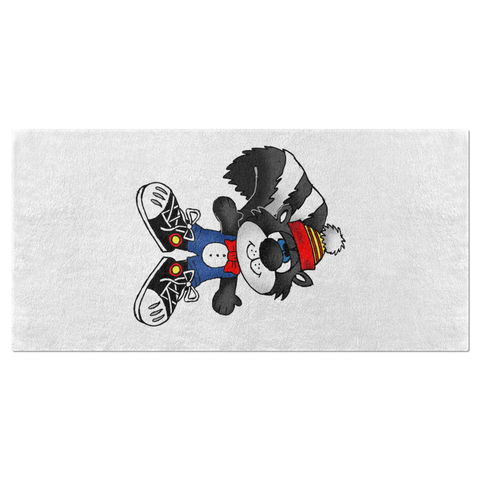 Sherman the Skunk Beach Towel