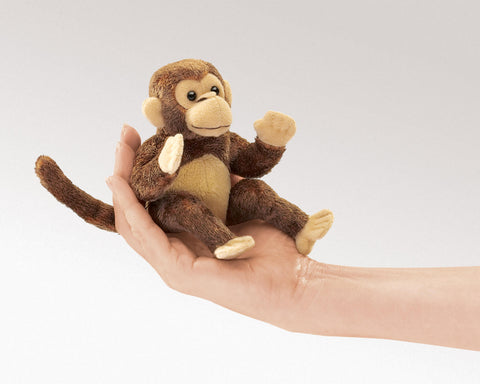 Mini monkey Folkmanis puppet