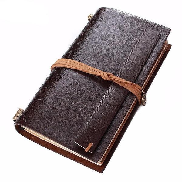 Dark Leather Travel Journal
