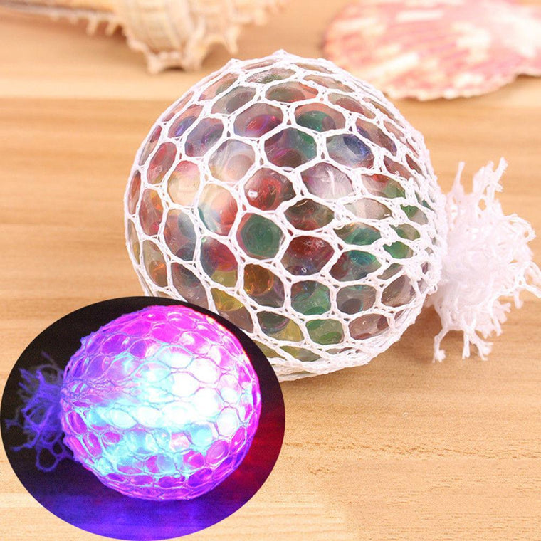 Glowing Squishy Mesh Anti Stress Reliever Ball