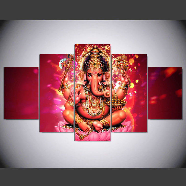 Ganesha Elephant Canvas Wall Art