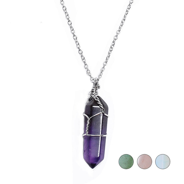 New Natural Quartz Pendant Necklaces