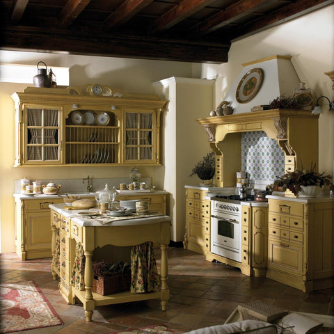 kitchen in yellow