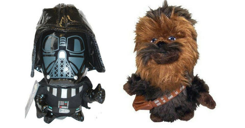 Darth Vader and Chewbacca Cuddly toy