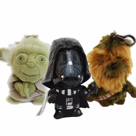 Yoda, Darth Vader, Chewbacca soft toy collectable