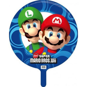 "Super Mario Bros Wii Party Foil 18"" Balloon"