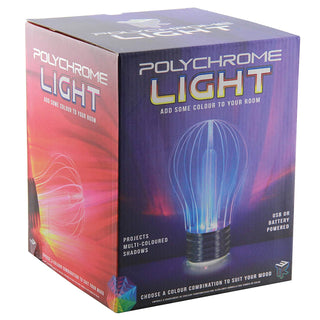Polychrome Light Bulb Shaped Novelty Colour Changing Lamp
