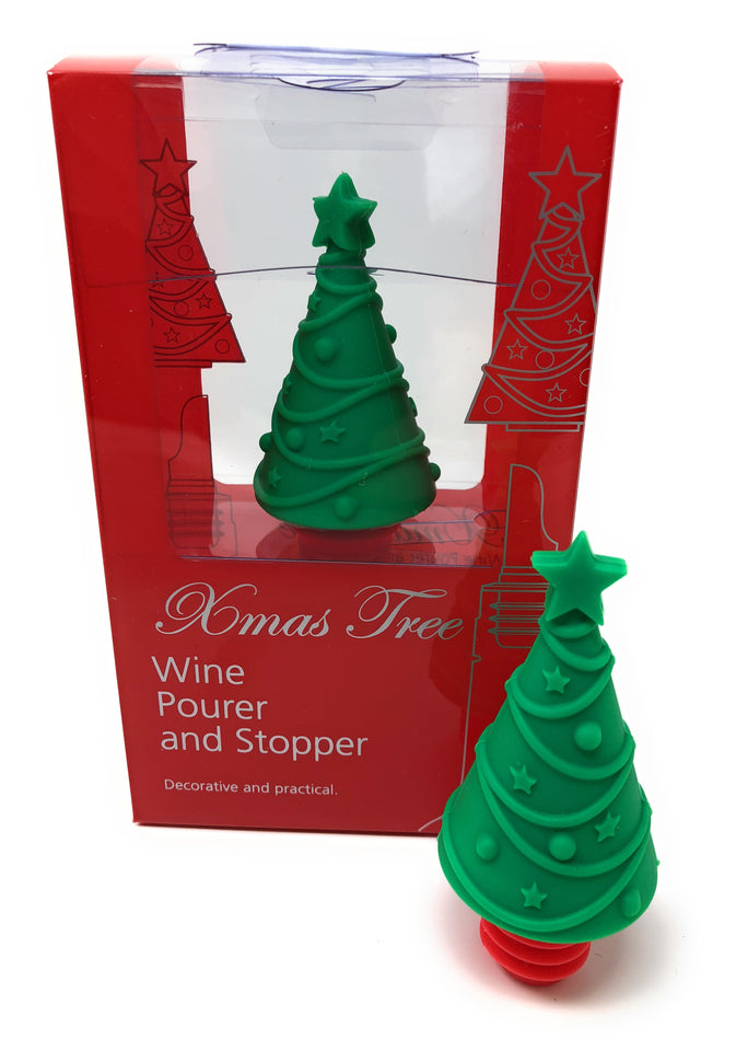 Christmas Tree Bottle Stopper and Wine Pourer