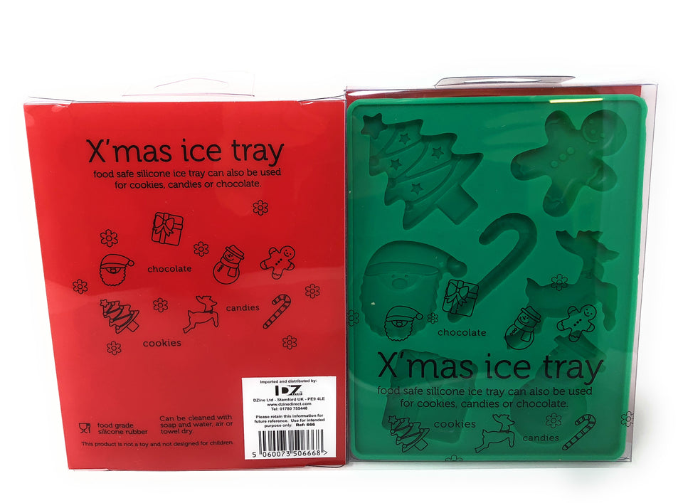 Christmas Ice cube tray (one red and one green)