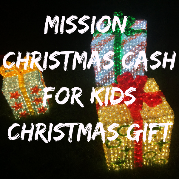 Radio Aire's Mission Christmas Cash For Kids Charity Christmas Present