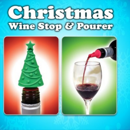Christmas Tree Bottle Stop & Pourer