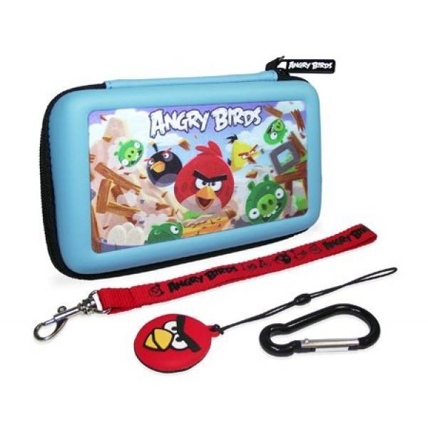 Angry Birds 3D Blue 4 Piece Gamer Carry Case Set For Nintendo DSi/3DS - Clubit.co.uk