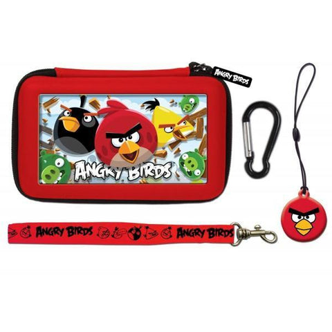 Angry Birds 3D Red 4 Piece Gamer Carry Case Set For Nintendo DSi/3DS - Clubit.co.uk