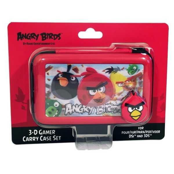 Angry Birds 3D Red 4 Piece Gamer Carry Case Set For