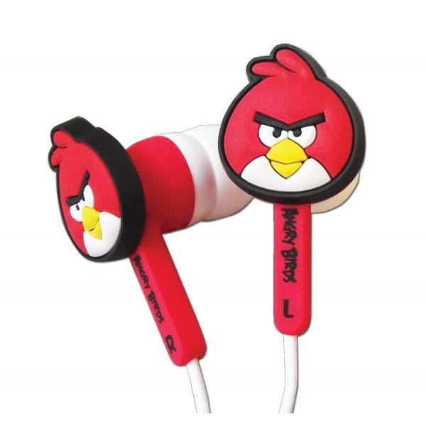 Angry Birds Gamer Buds Set - Red Earphones - Clubit.co.uk