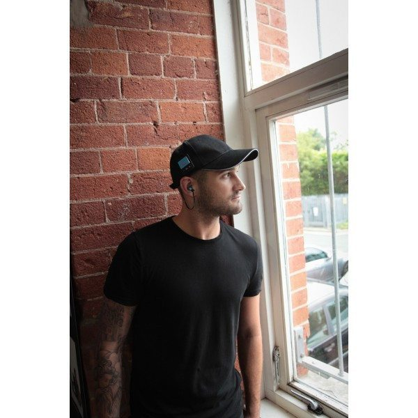 Bluetooth Baseball Cap Hands Free Black SmartCap - Clubit.co.uk