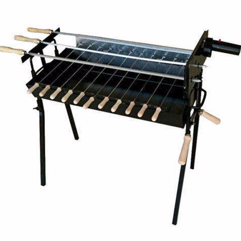 CyprusBBQ Extra Wide Black Greek Cypriot Rotisserie Charcoal BBQ