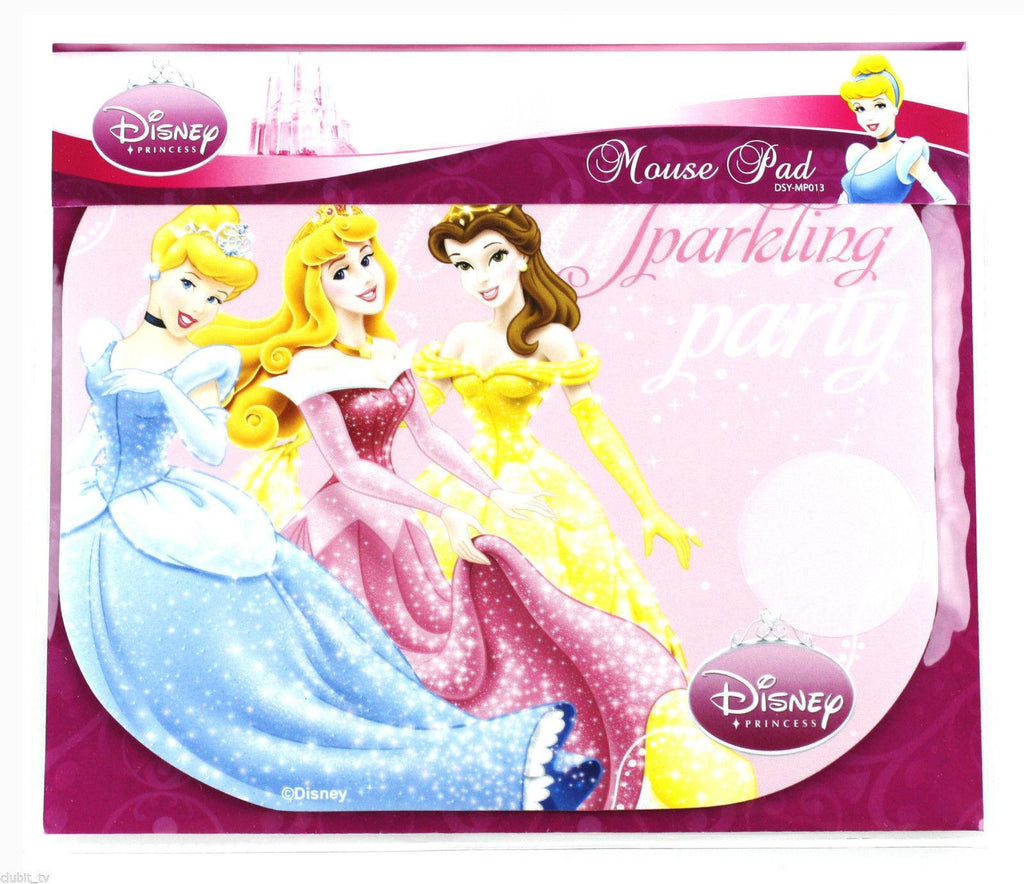 Disney Princess Pink Sparkling Party Mouse Mat