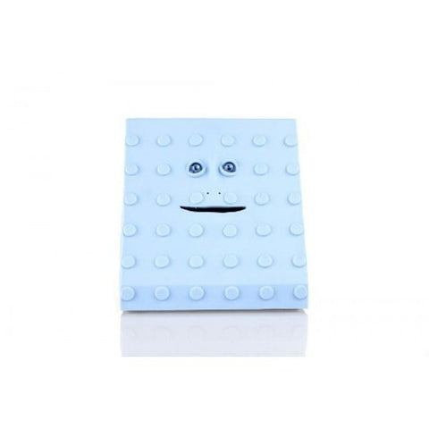 Face Bank Blue Dots Design Munching Money Box - Clubit.co.uk