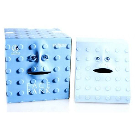 Face Bank Blue Dots Design Munching Money Box