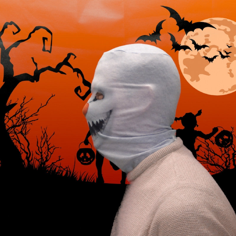 Face Mask - Demon Snowman Scary Halloween Face Mask