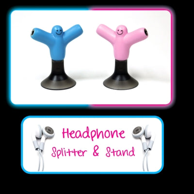 Headphone Splitter and Stand Blue