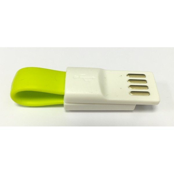 Micro USB Mini Magnetic Charging Cable For Android Smartphone (Lime Green)