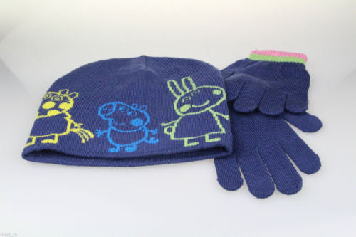 Peppa Pig 2 Piece Beanie Hat And Gloves Set Age 4-6 Years