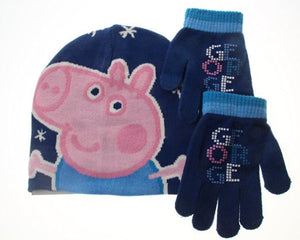 Peppa Pig George 2 Piece Beanie Hat And Gloves Set Age 4-6 Years