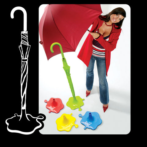 Puddle Effect Free Standing Novelty Umbrella Stand In 4 Vibrant Colours