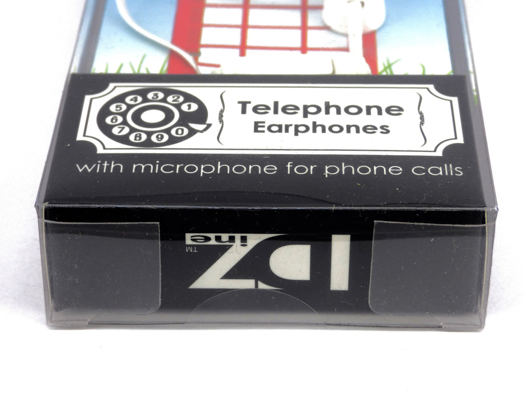 Retro Design Telephone Earphones With Built In Microphone