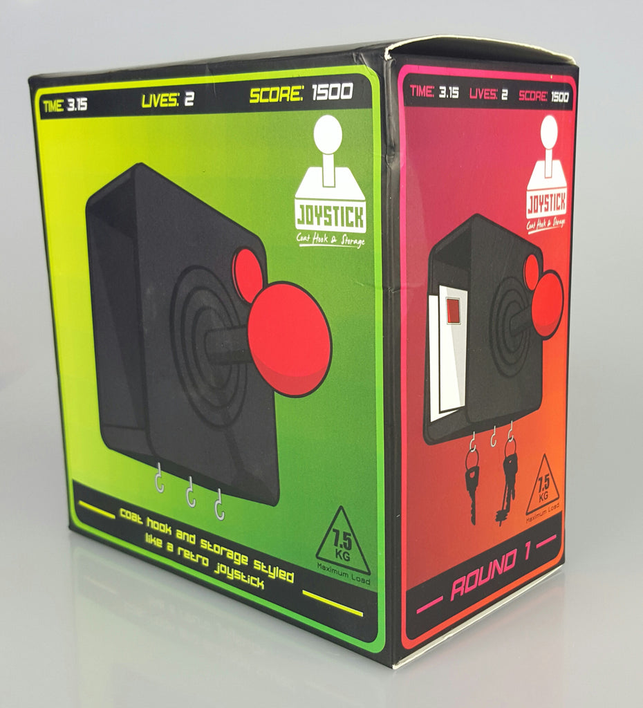 Retro Gaming Style Joystick Coat Hook With Key Hook And Letter Storage