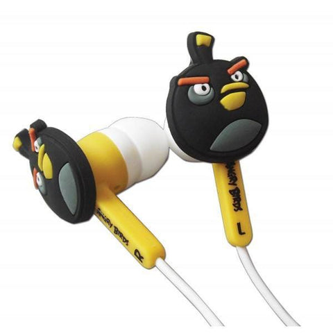Wholesale - Wholesale Lot Of 24 X Angry Birds Gamer Buds Sets - Black Earphones
